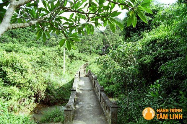 Đường vào chùa Cầm Thực (Yên Tử)