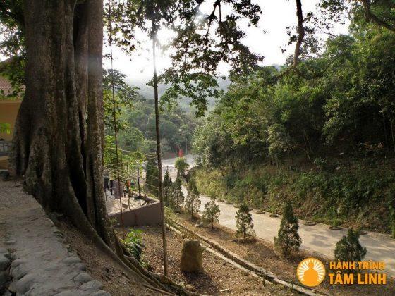Đường xuống núi sau chùa Lân