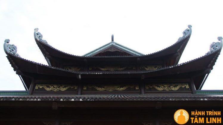 Mái hồi của tòa Điện tam thế chùa Bái Đính