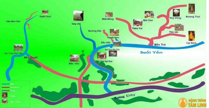 Sơ đồ du lịch chùa Hương