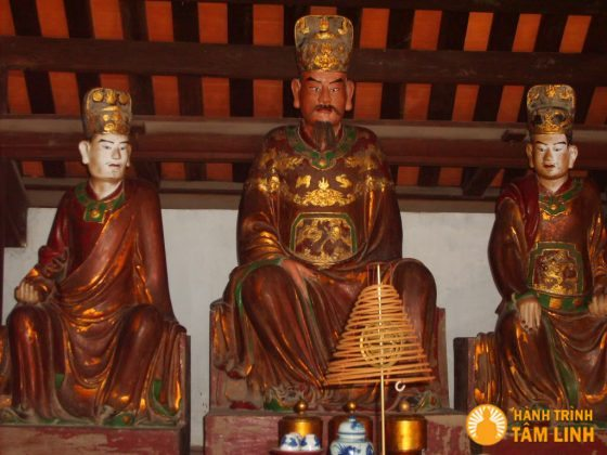 Tượng tam thế phật chùa Dâu ( Thuận Thành - Bắc Ninh )