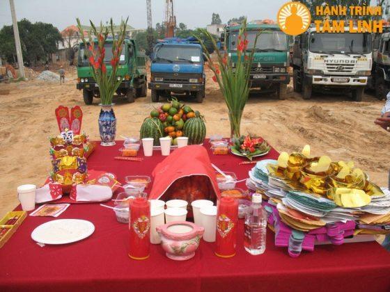 Lễ vật để cúng lễ động thổ trước khi thi công công trình