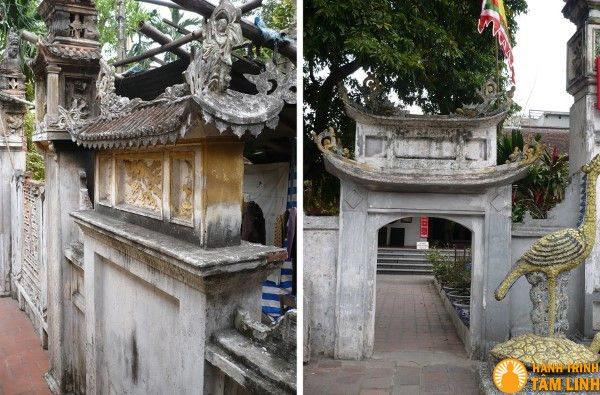 Các dấu tích để lại trong chùa