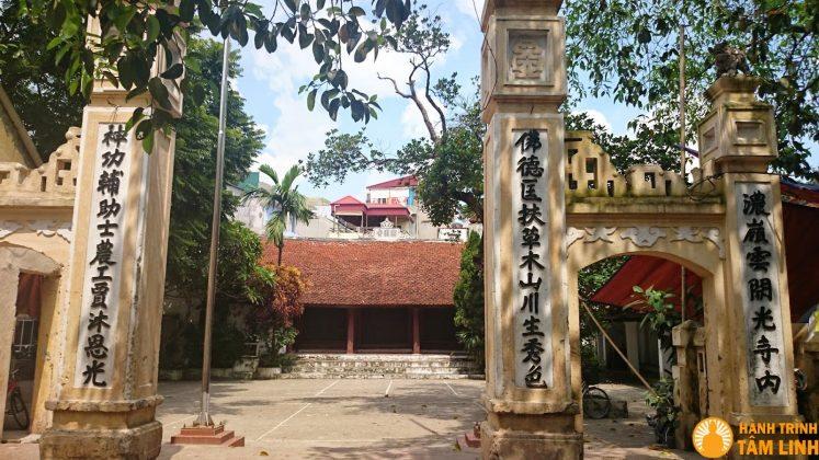 Cổng chùa Mật Dụng