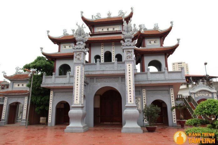 Cổng tam quan chùa Nga My