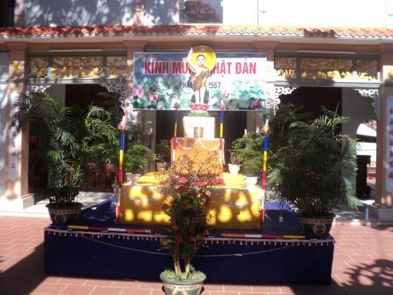 Diện Thờ Lễ Phật đản chùa Châu Quang