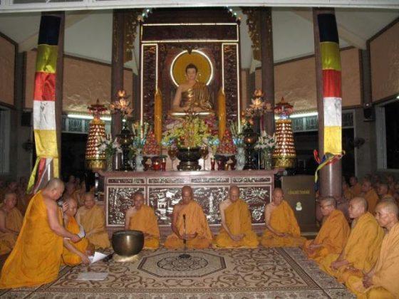 Điện phật chùa Tịnh Xá