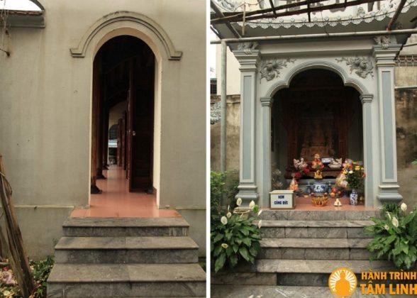 Góc sân giáp tiền đường chùa Trung Tự