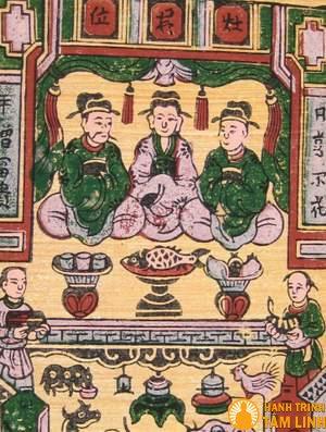 Mẫu tranh thờ Táo Quân