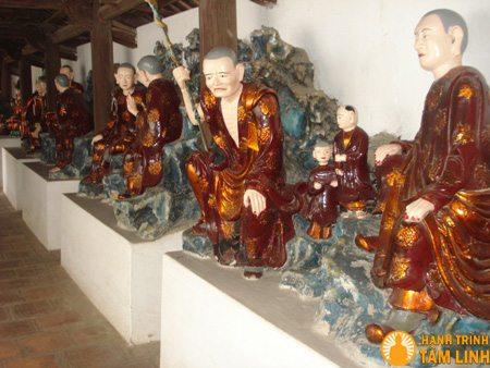 Tượng phật bên trong chùa Bảo Sơn