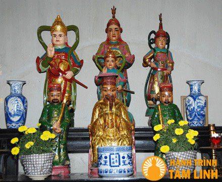 Bàn thờ Hộ Pháp và Minh Vương chùa Hội Sơn
