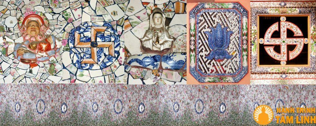 Các tác phẩm gốm sứ của chùa An Phú