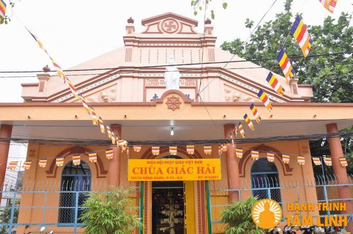 Mặt tiền chùa Giác Hải