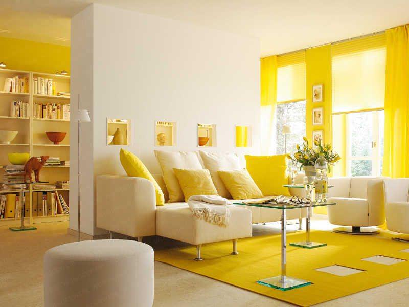 Màu vàng thể hiện sự vui vẻ