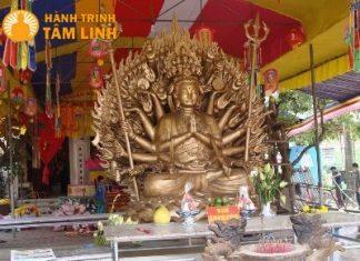 Tượng phật bà quan âm thiên thủ thiên nhãn tại chùa Cần Linh