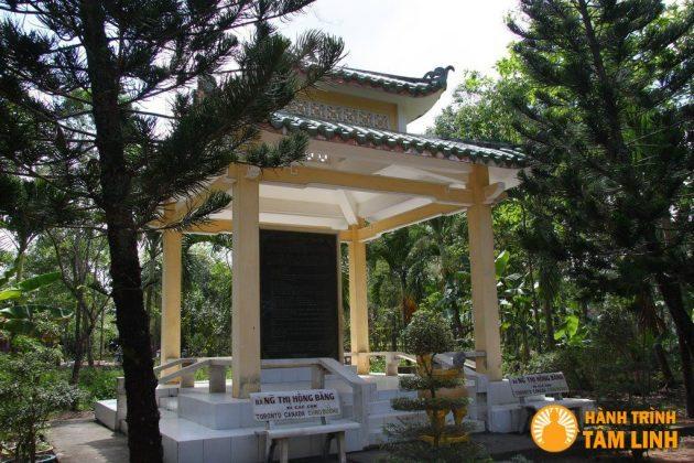 Bia di tích chùa Tôn Thạnh