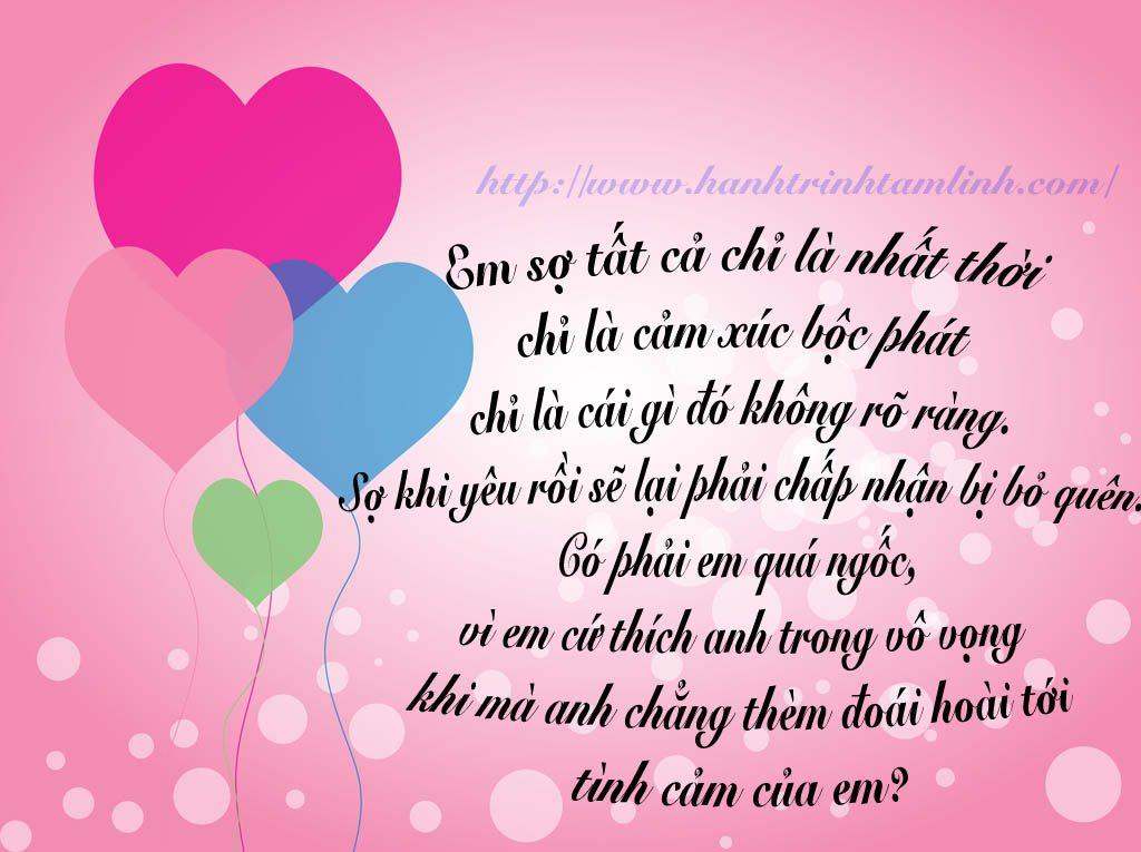 Những câu nói hay về tình yêu đơn phương P1