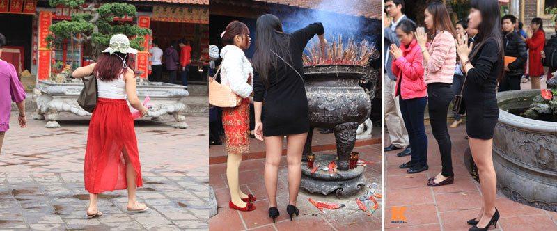 Tuyệt đối không mặc váy ngắn đi lễ chùa