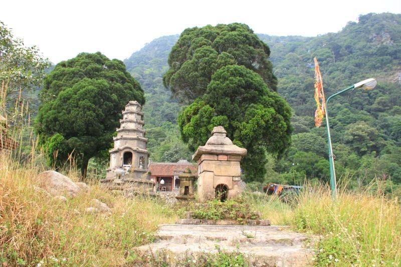 Vườn tháp chùa Vân Tiêu