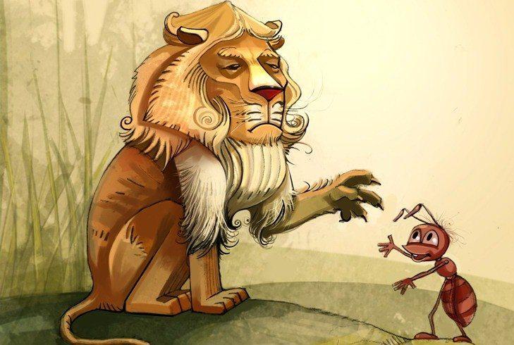 Kiến và sư tử