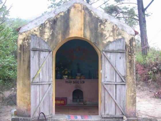 Cảnh quan chùa Ba Vàng cũ